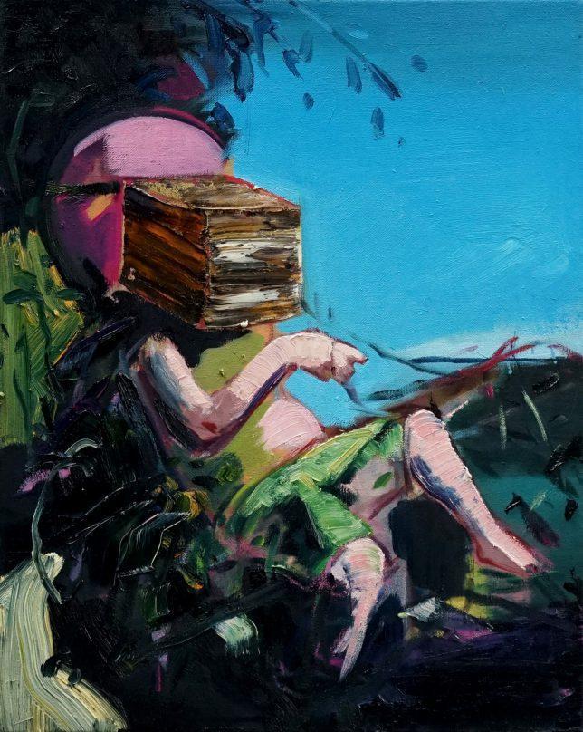 Philipp Kummer, Peace is Easy, 2020, oil on canvas, 50 x 40 cm
