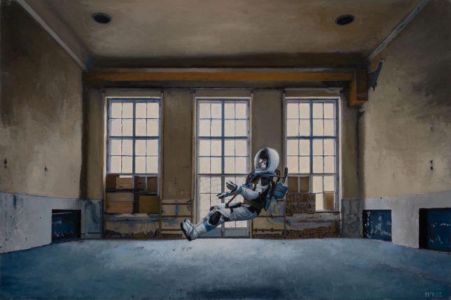 Casey McKee, Gravitron, 2020, C-Print, photograph, oil on canvas, 41 x 60 cm