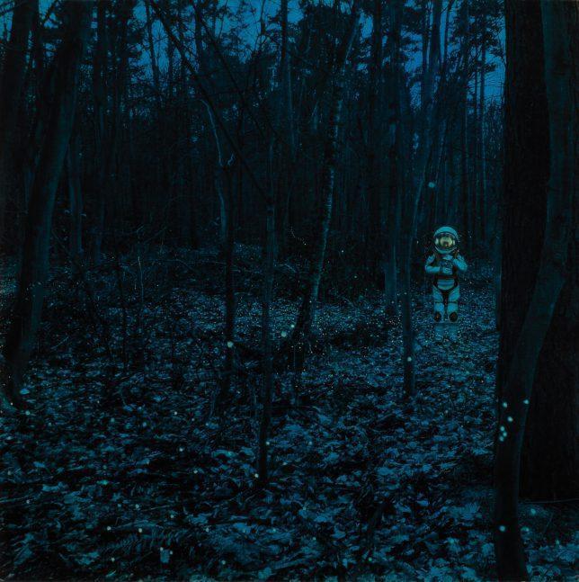 Casey McKee, Luminescence, 2020, C-Print, Öl auf Leinwand, 80 x 80 cm