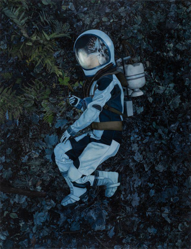 Casey McKee, Mycelium, 2020, C-Print, photograph, oil on canvas, 150 x 115 cm