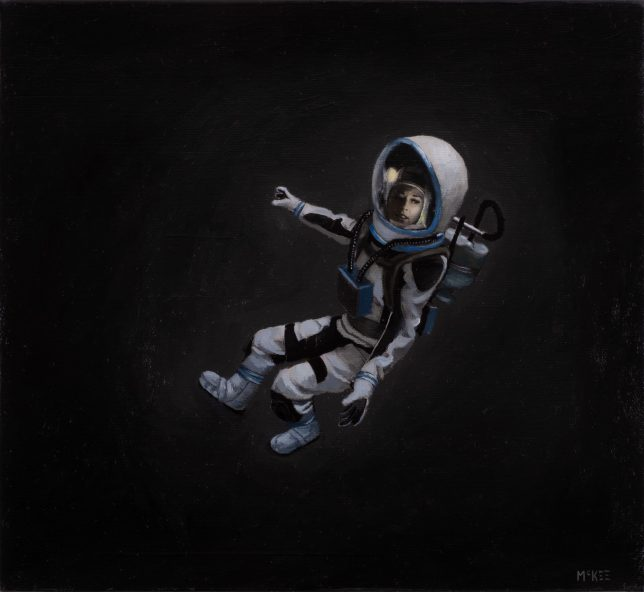 Casey McKee, Recalibration, 2020, photograph, oil on canvas, 23 x 25 cm