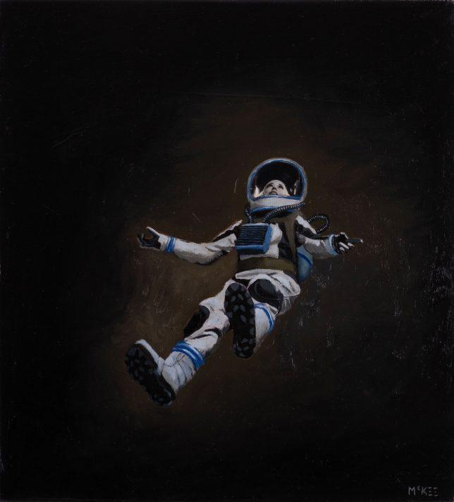 Casey McKee, Void, 2020, photograph, oil on canvas, 23 x 25 cm