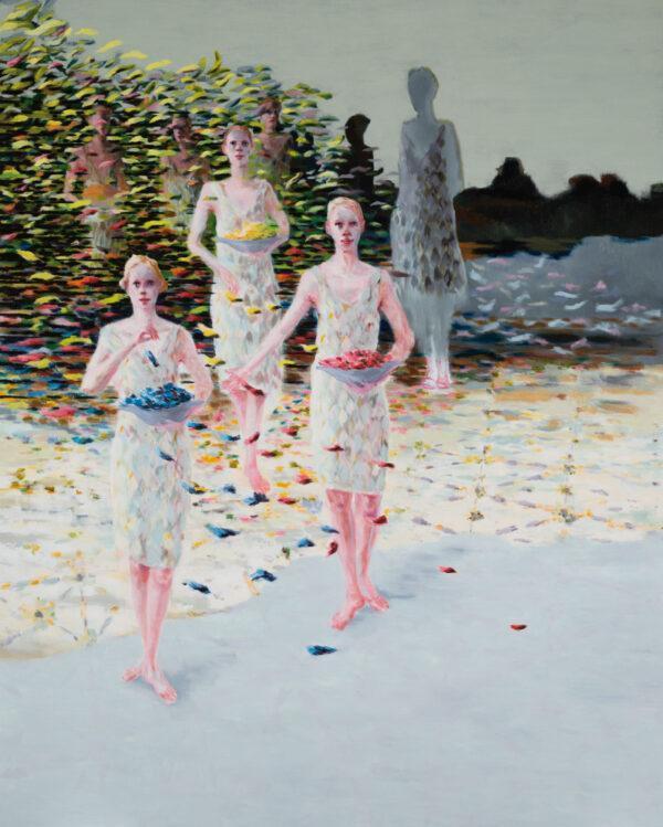 Tjark Ihmels, Angerichtet wird immer, 2020, Oil on Canvas, 200 x 160 cm