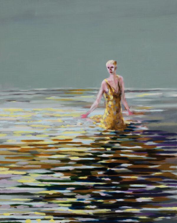 Tjark Ihmels, Badende, 2020, Oil on Canvas, 100 x 80 cm