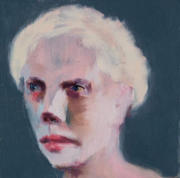 Tjark Ihmels, Blonder Mann, 2020, Oil on Canvas, 20 x 20 cm