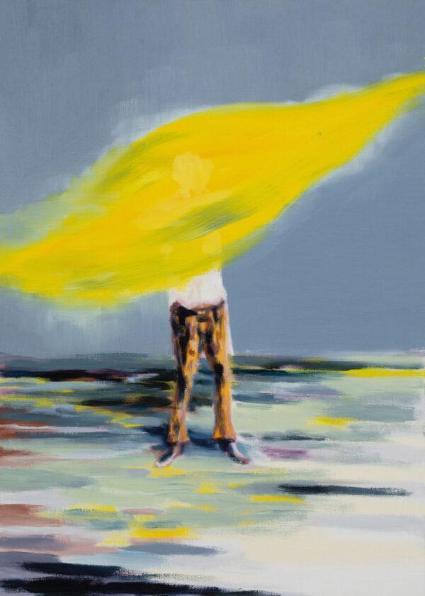 Tjark Ihmels, Ich misch mir jetzt ein flottes Gelb, 2020, Oil on Canvas, 70 x 50 cm