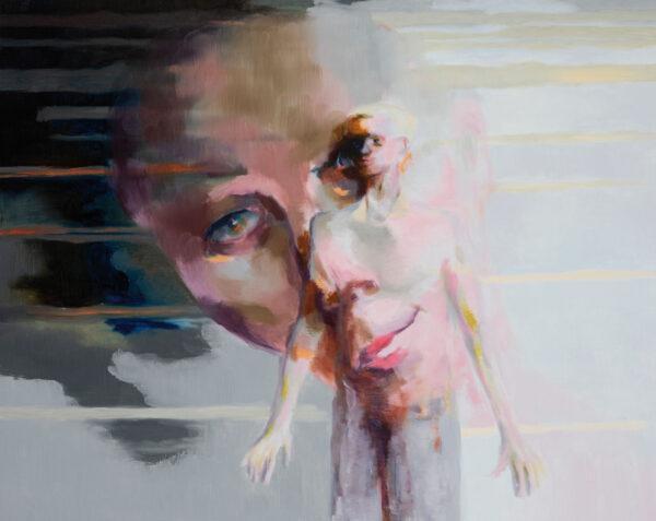 Tjark Ihmels, Projektion, 2020, Oil on Canvas, 80 x 100 cm