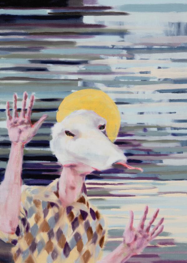 Tjark Ihmels, Es gibt immer was zu feiern, 2020, Oil on Canvas, 70 x 50 cm