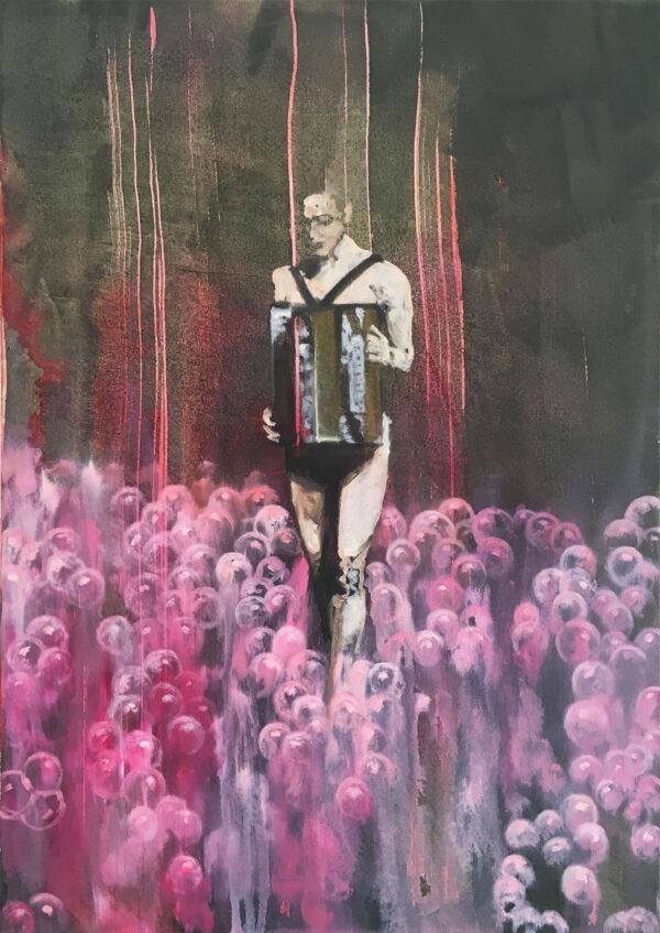 Isabel Friedrich, Du bist so, 2016, Oil, Indian Ink Acrylic on Canvas, 50 x 70 cm