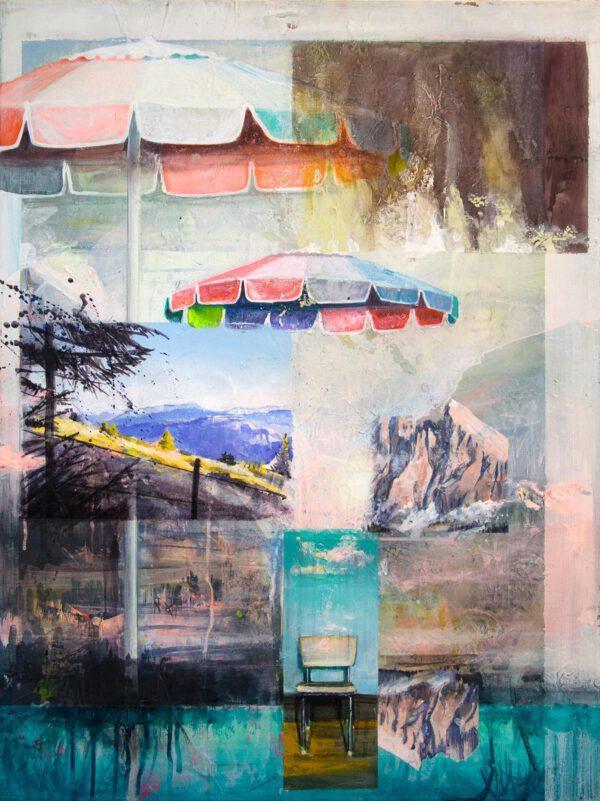 Tessa Wolkersdorfer, Strange Heat, 2020, Acrylic, Indian Ink on Canvas, 80 x 60 cm