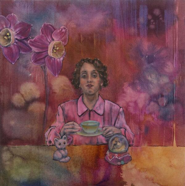 Isabel Friedrich, Doch, 2020, Indian Ink, Oil on Canvas, 70 x 70 cm
